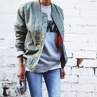 coat green jacket bomber jacket metallic