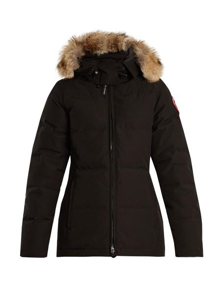 canada goose jacket down jacket fur black