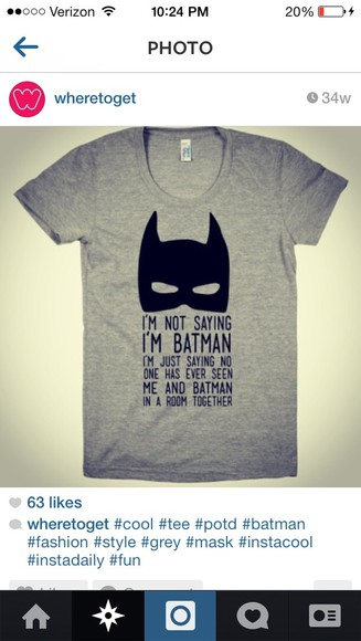 shirt batman grey
