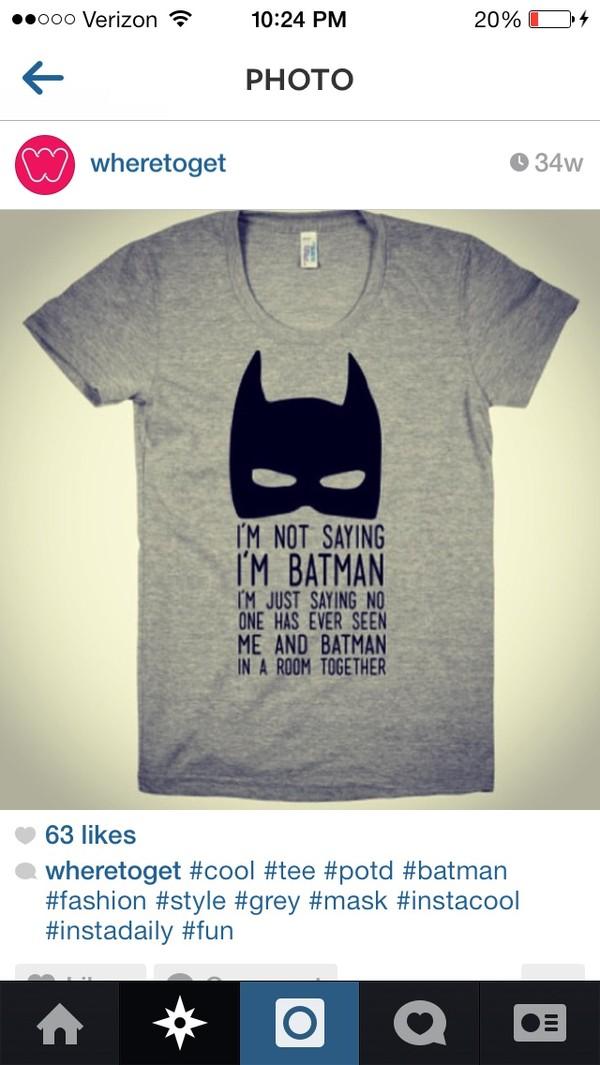 shirt grey batman