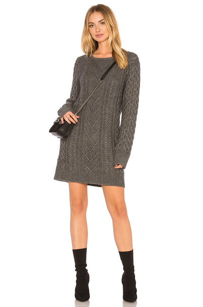 Rails dress sweater dress charcoal