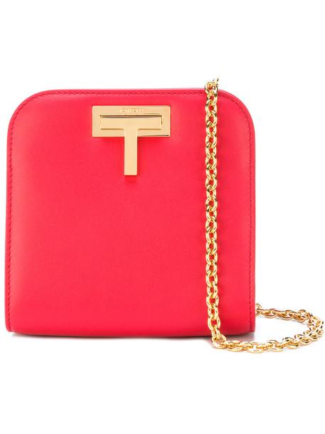 Tom Ford mini women bag shoulder bag leather red