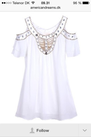 dress pearls white dress day dress