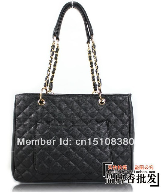 New PU Leather Handbags Women Famous Brand Fashion  Designer Chain Shoulder Bags Classic Plaid CC Bag Black-in Shoulder Bags from Luggage & Bags on Aliexpress.com