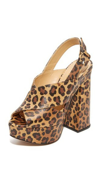 Charlotte Olympia Elektra Sandals - Leopard