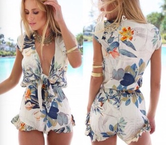 romper floral summer fashion style