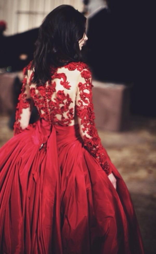 Cheap Prom Dress Alexa Chung Little Red Lace Erdem Dress
