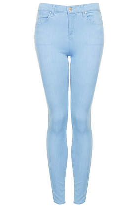 MOTO Flat Baby Blue Leigh Jeans - Jeans  - Clothing  - Topshop