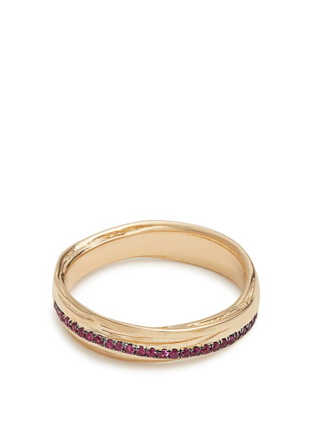 Alison Lou ring gold yellow jewels