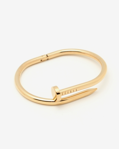 Classic Nail Bangle - Yellow Gold