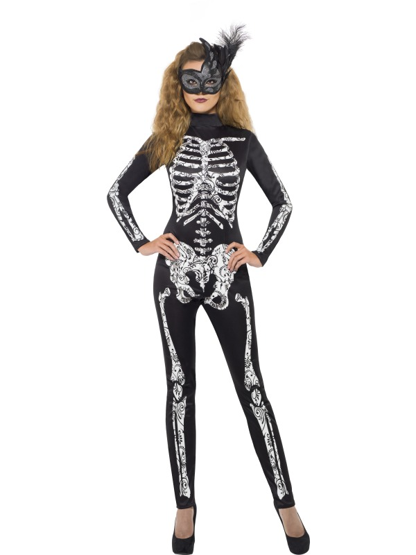 Sexy Womens Skeleton Bodysuit | Soleil Skeleton