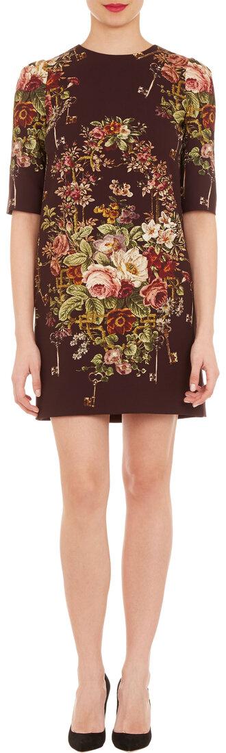 dress dolce and gabbana floral-print shift dress