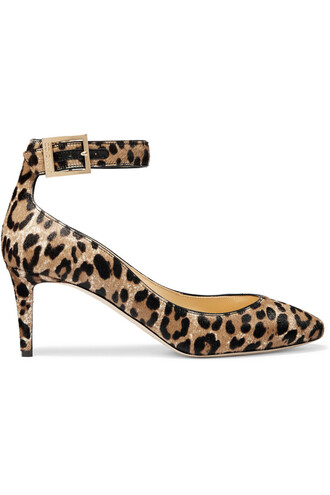 hair pumps print leopard print shoes