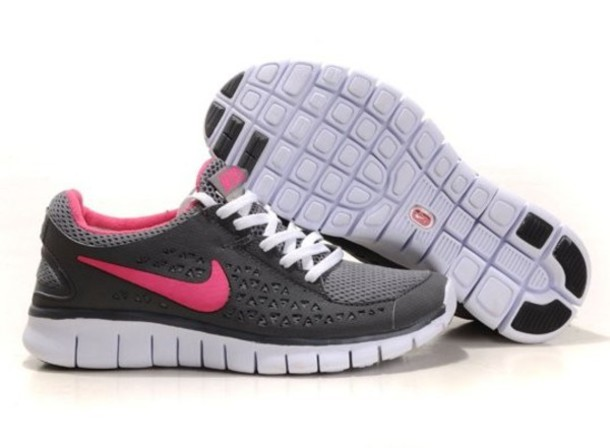 shoes nike free run pink grey white nike nike shoes sport sport shoes