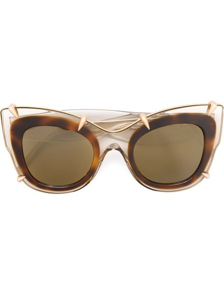 Pomellato - cat-eye sunglasses - women - Acetate/Metal (Other) - One Size, Nude/Neutrals, Acetate/Metal (Other)