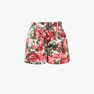 shorts rose women cotton print purple pink
