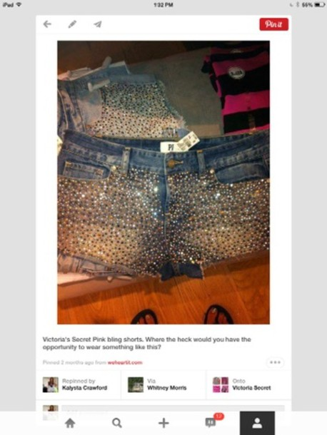 shorts diamonds