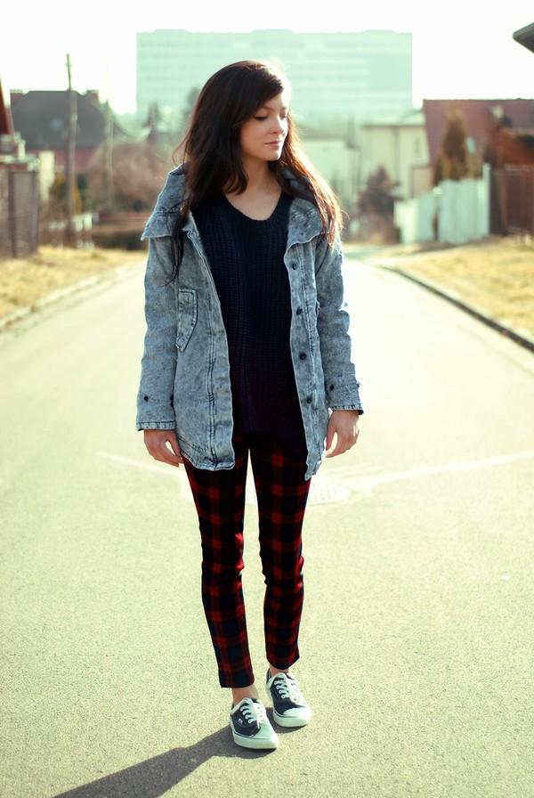 coat pants sweater shoes