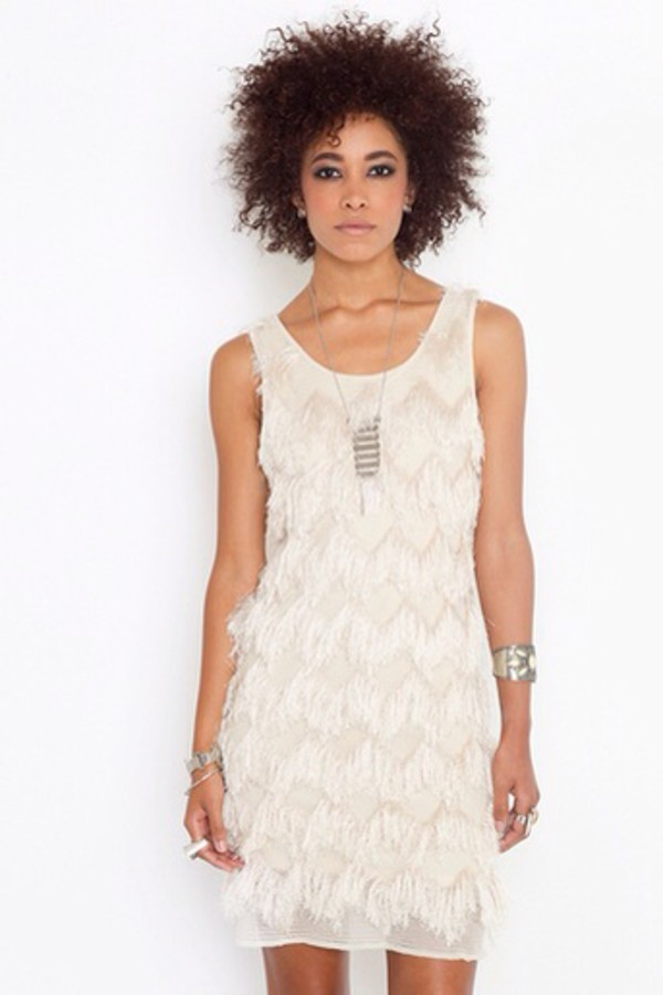 white dress white dress fringed dress