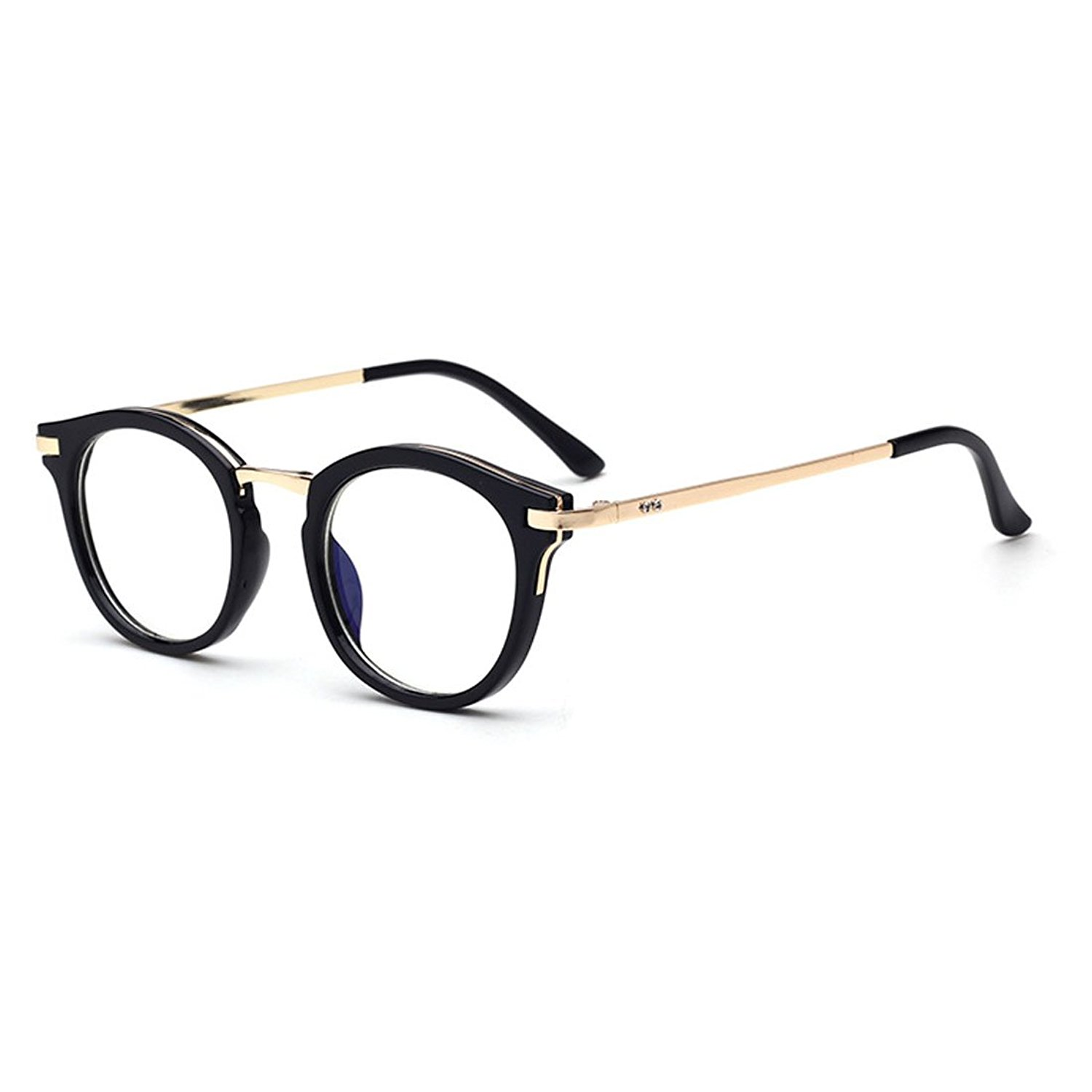 Amazon.com: D.King Vintage Round Prescription Eyeglasses Horn Rim ...