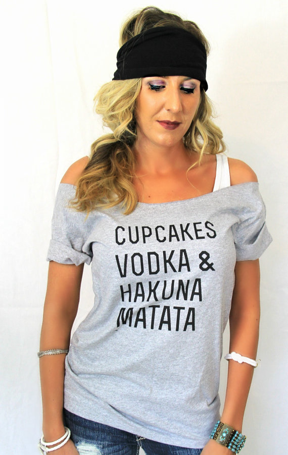 Free shipping cupcakes vodka hakuna matata shirt by pebbyforevee