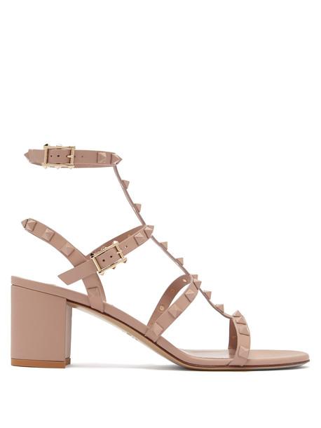 heel sandals suede nude shoes
