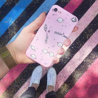 phone cover yeah bunny space pink pastel