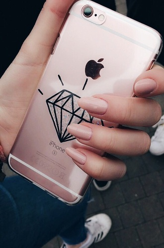 phone cover iphone cover iphone case iphone 6 case rosy pink diamonds glitter apple