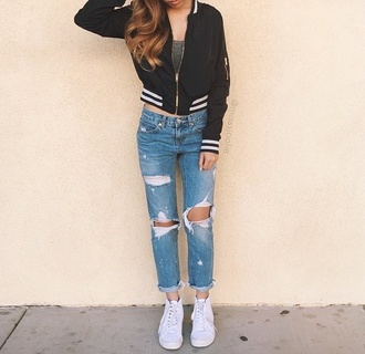 jeans shirt sweater