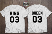 t-shirt,king,queen,king and queen,KING queen king queen,queen of fucking everything,tees,white t-shirt,black and white,number,gold,black t-shirt,quote on it,new girl,tumblr,tumblr shirt,tumblr clothes,engagement present,wedding clothes,wedding,anniversary present,birthday present for girlfriend,birthday,birthday gifts for her,special birthday gifts,anniversary gifts for him,etsy,instagram,instagram famous,queen bee