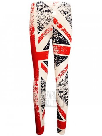Destroyed union jack print leggings