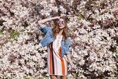 to bruck ave,blogger,jacket,dress,sunglasses,jewels,denim jacket,summer outfits