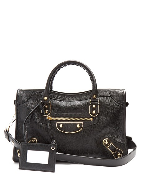 metallic classic bag black