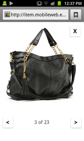 bag,black,gold,chain,tote bag,handbag