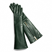 Coach :: LEATHER GLOVE WITH RABBIT INTERIOR