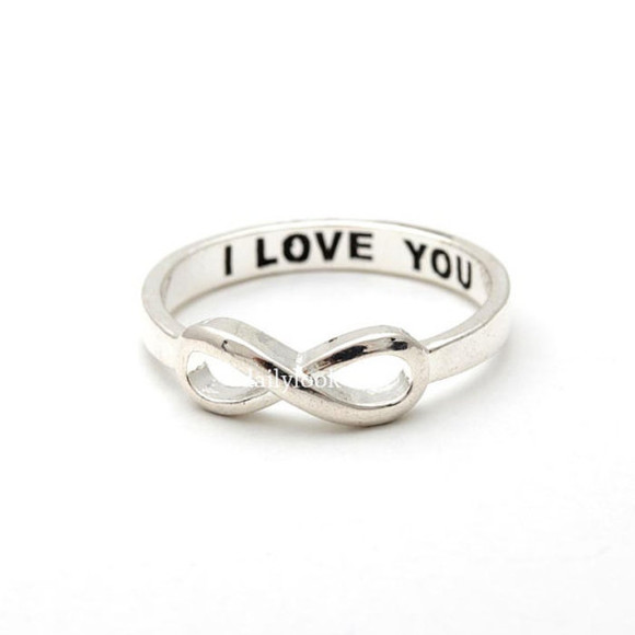 jewels jewelry infinity ring ring i love you infinity ring valentine day gift infinity i love you ring