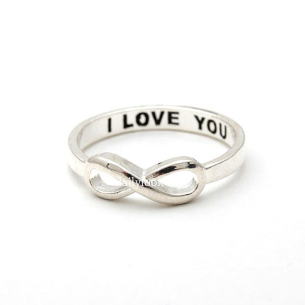Jewels Jewelry Ring Infinity Ring I Love You Infinity Ring Valentine Day  Gift Infinity I Love