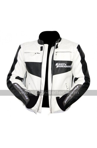 jacket vin diesel jacket furious 7 jacket fast and furious 7 furious 7 premiere white jacket leather jacket