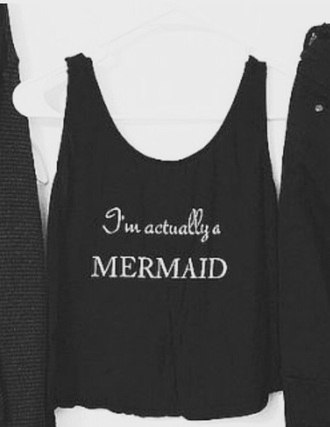 shirt black dress black and white black top cute cropped crop tops shorts mermaid
