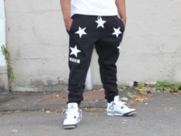 pants black stars