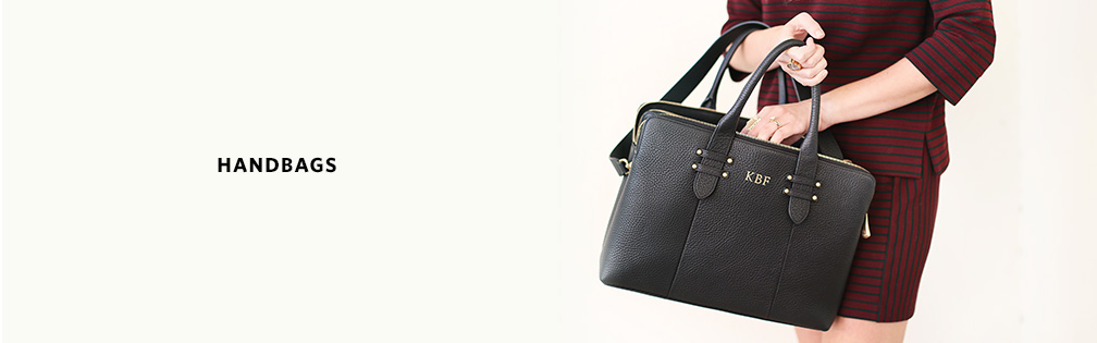 Leather handbags and tote bags