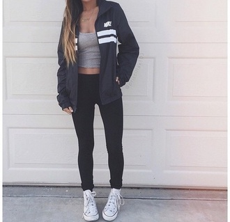 jacket nike swag fashion soort sportswear cool trendy treny girl coolhiphop streeh street hip hop