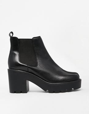 Asos – every cloud – chelsea ankle boots aus leder bei asos