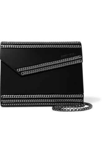 embellished candy clutch black bag