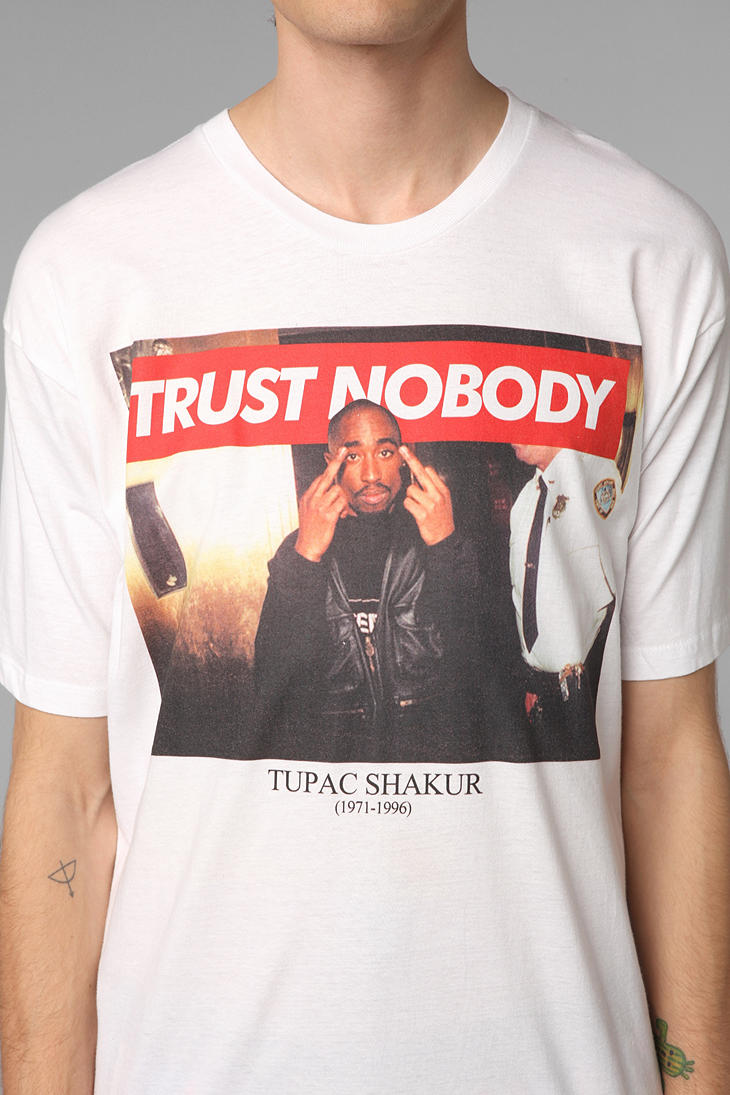 2pac middle finger t shirt