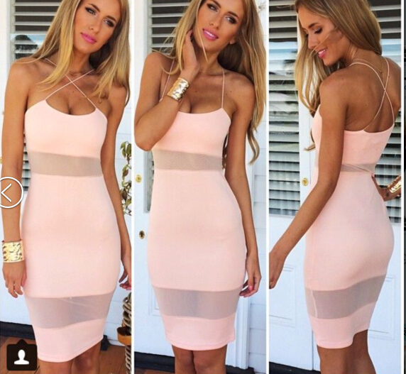 Aliexpress.com : buy 2014 aw free shipping fashion sexy suspenders perspective mesh stitching bodycon dress. party dress tb 6836 from reliable dress folder suppliers on love & lemonade