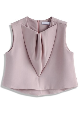 top sleeveless top pink cropped