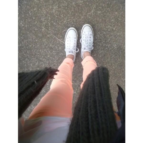 jeans neon orange jeans