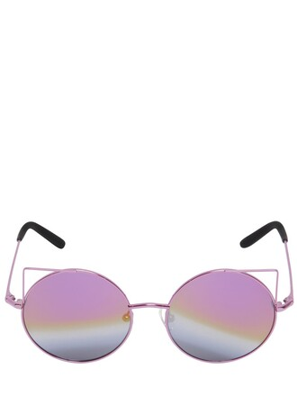 metal cat ears sunglasses pink