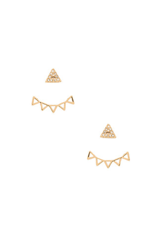 triangle metallic gold